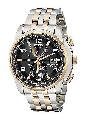 Citizen Eco-Drive Men's AT9016-56H Atomic Dual-Time Perpetual Calendar Watch