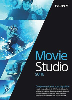 Sony Movie Studio 13 Suite Download And Email Delivery