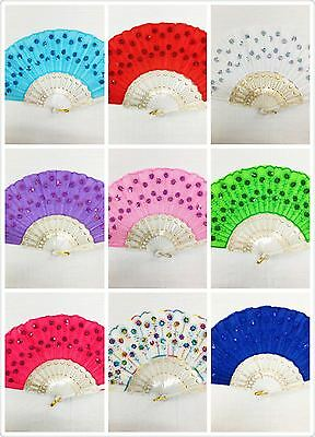 Hand Fans For Wedding (Outdoor Folding summer party bridal baby shower Hand Fan w/ Gift Bag for)