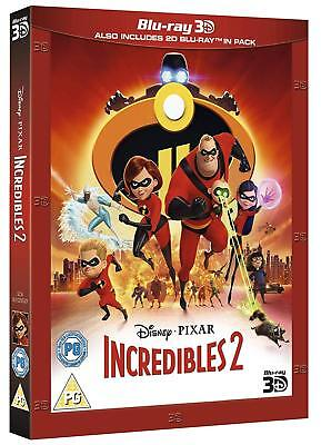 THE INCREDIBLES 2 [Blu-ray 3D + 2D] (2018) Exclusive UK Release Disney Slipcover - The Incredibles Superheroes