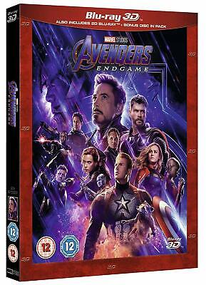Avengers Endgame  Blu ray 3D/ 2D Pre-Order Brand New Released Day Sep 2,2019