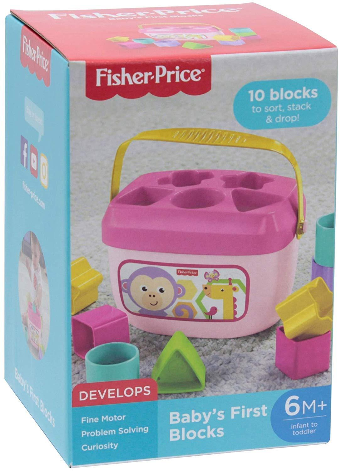 Fisher-Price Baby's First Blocks Plastic Toy Perfect Chris