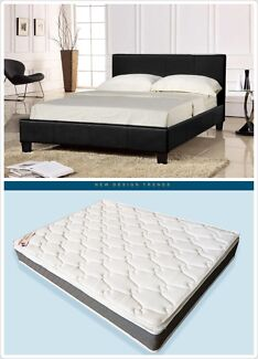Brand New Leather Bed include Pillow top Mattress