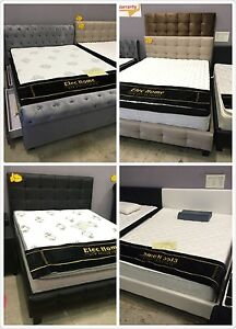 Brand New Fabric Bed Double/Queen size Beige colour Clayton South Kingston Area Preview