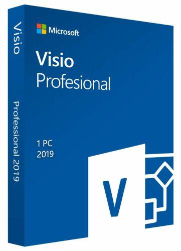 Microsoft Visio 2019 Professional Pro -1 PC GENUINE- Lifetime
