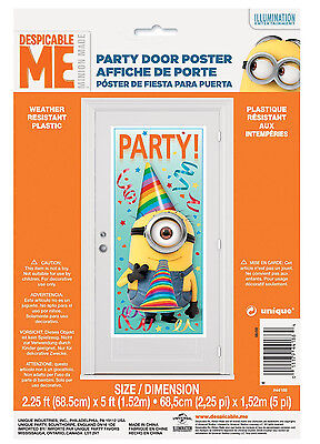 Despicable Me Minion Door Decorations Happy Birthday Party Supplies ~ 5ft - Minion Party Decorations