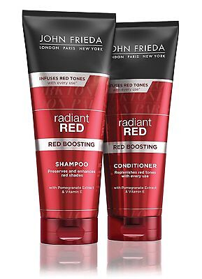 JOHN FRIEDA  Radiant Red SHAMPOO  and CONDITIONER 250ml each