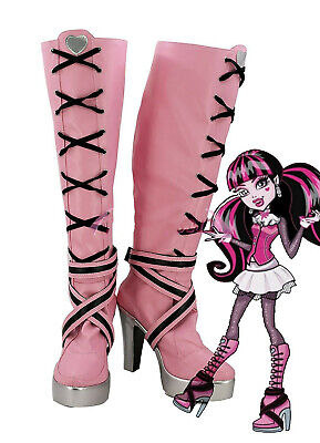 Monster High Cosplay Shoes (Monster High Draculaura Cosplay Shoes Boots Custom)