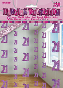 HAPPY-BIRTHDAY-16-70th-5FT-STRING-HANGING-PARTY-DECORATION-6-STRINGS-3-COLOURS