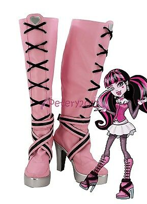 Monster High Draculaura Cosplay Shoes Boots Custom Made - Draculaura Shoes Costume