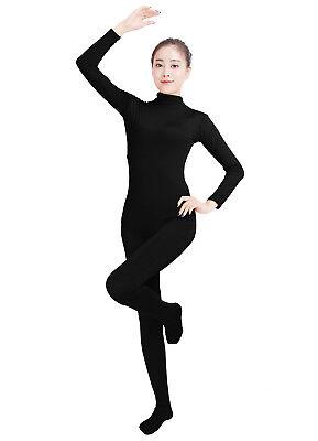 Ensnovo Womens Lycra Spandex Zentai Suits One Piece Footed Unitard