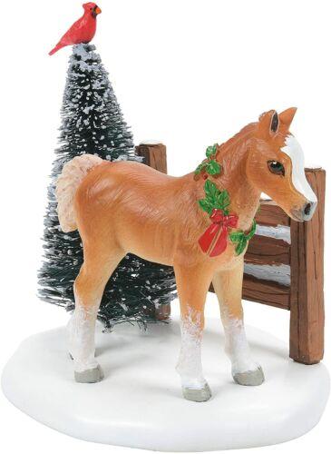 Cardinal Christmas Pony Department 56 Village Accessories 6007662 horse farm Z