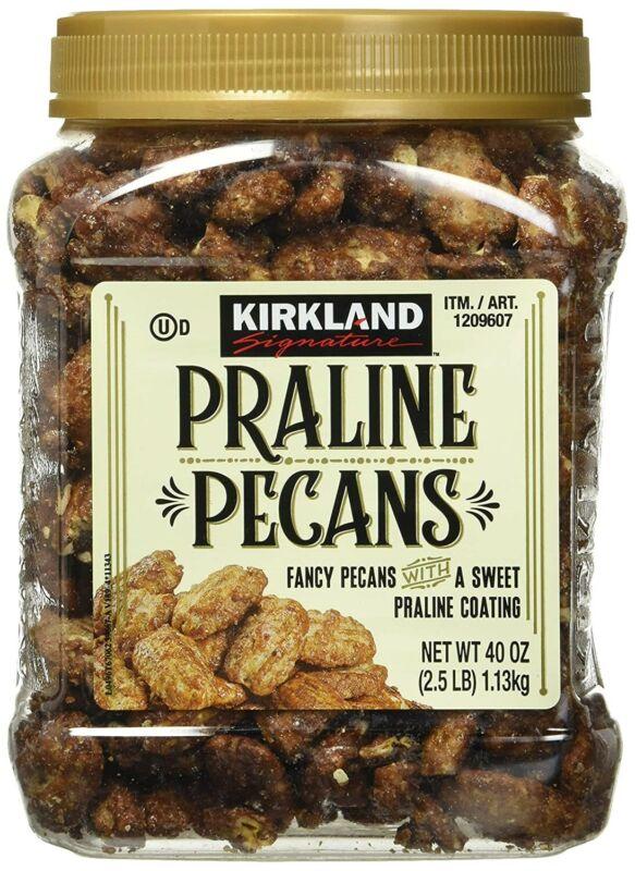 Kirkland Signature Praline Pecans, 40 oz 2.5 LB Jar