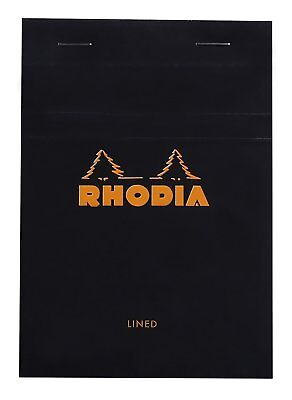 Rhodia Staplebound - Notepad - Black - Lined - 80 Sheets - 4 X 6 - New R136009