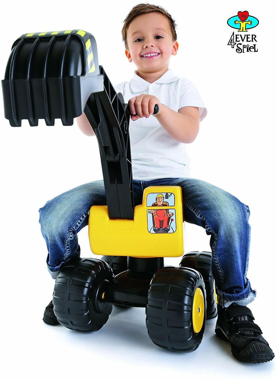 Sitzbagger Mobby-Dig Kinderbagger Rutscher Bagger Rutschauto Sandbagger