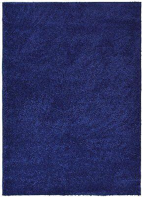 Soho Solid Color Shag Area Rug Navy Blue ,Antracite Black, Grey, Red ,White,Blue Square Red Shag Rug