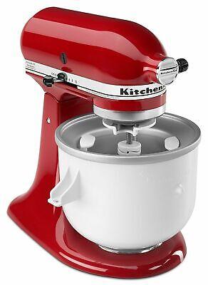 KitchenAid KICA Ice Cream frz yogurt sorbet Maker Stand Mixer Attachment KICA0WH
