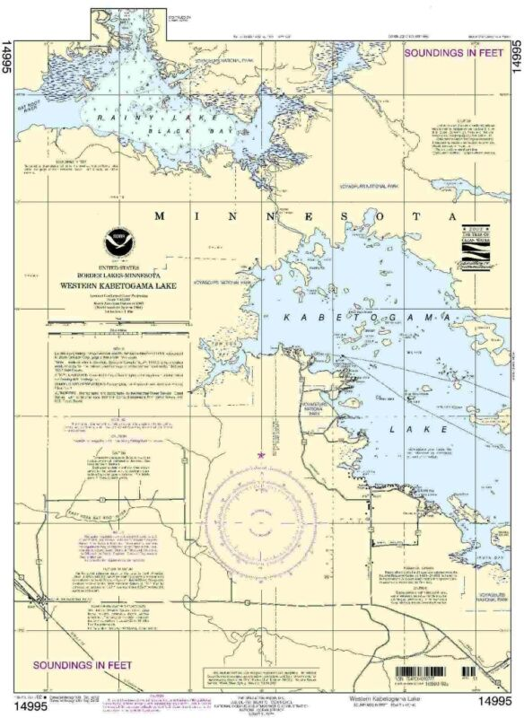 NOAA Chart Western Kabetogama Lake 11th Edition 14995