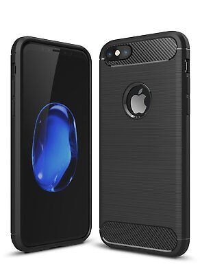 Apple IPhone 7 8 Cover Shockproof Silicone Light Free Screen Protector Black Cover Free Screen