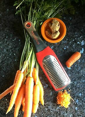 Microplane Artisan Series Grater, Red, Course, 1 ea