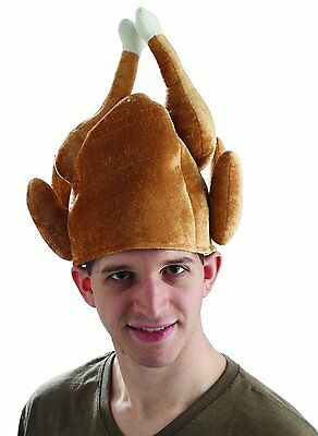 Roasted Turkey Thanksgiving Hat Costume Headpiece Funny Chef Adult Mens Womens