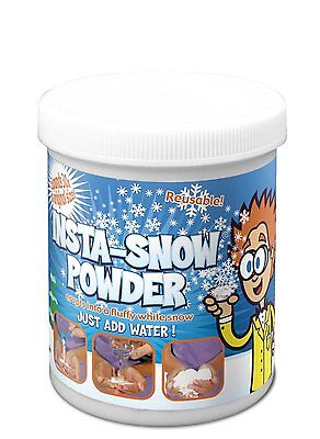 Insta-Snow Powder Reusable Instant Magic Snow makes 7.5 ltrs snow