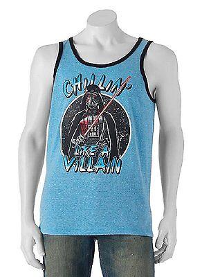 Star Wars Size S M L XL 2XL Blue Darth Vader Chillin' Like Villain Tank Top NEW