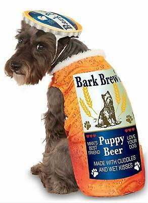 Bark Brew Beer Bottle Cute Funny Fancy Dress Up Halloween Pet Dog Cat Costume](Dressed Up Dogs Halloween)