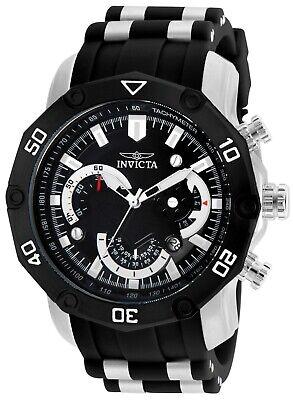 Invicta 22797 Men's Chrono Black Dial Steel & Silicone Band Watch ()
