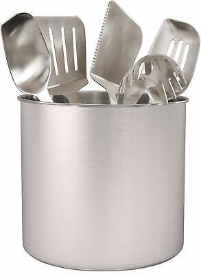 Stainless Steel Utensil Holder Jumbo for Spatulas Ladles Serving Spoons 7 X 7 in