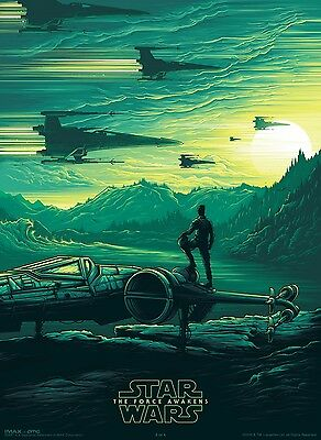 Star Wars: The Force Awakens IMAX Poster Poe Dameron J.J Abrams A4+