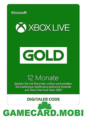 XBOX Live 12 Monate - XBOX 360 ONE Mitgliedschaft GOLD Membership 12 Month Card online kaufen