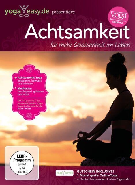 ANNA TRÖKES - YOGAEASY.DE-ACHTSAMKEIT-FÜR MEHR GELASSENHEIT  DVD NEU