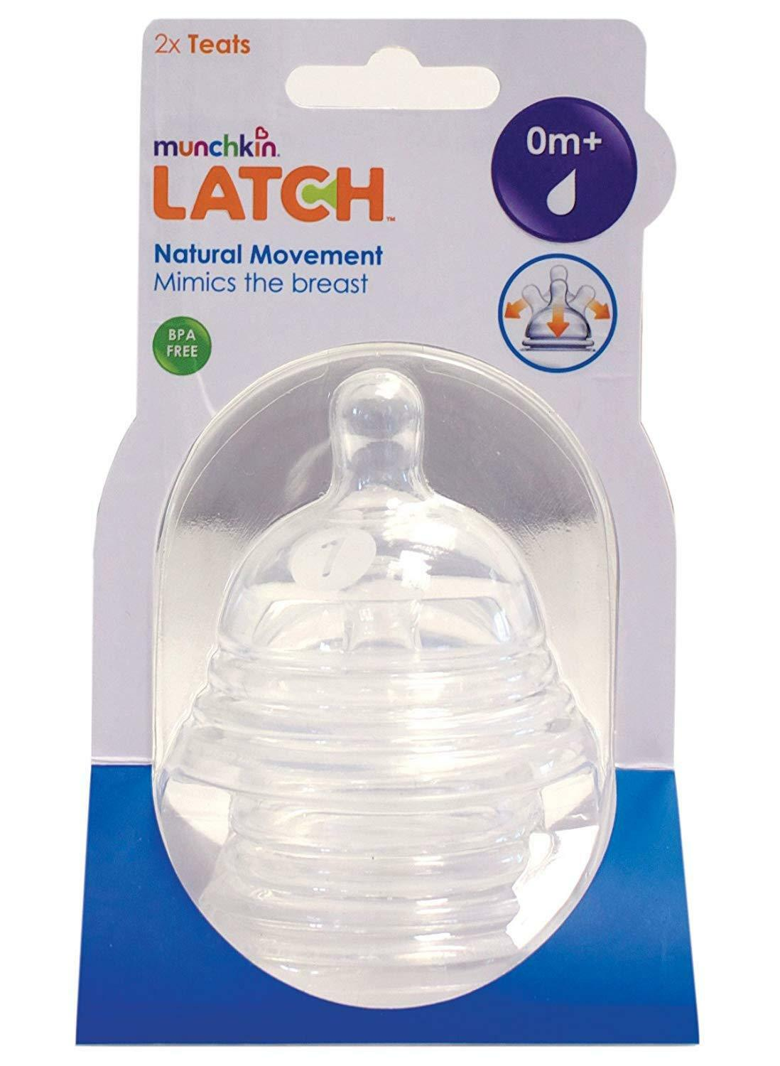 Munchkin Latch Stage 1 Teats - 0 Months+ (1 Pack of 2 Teats)