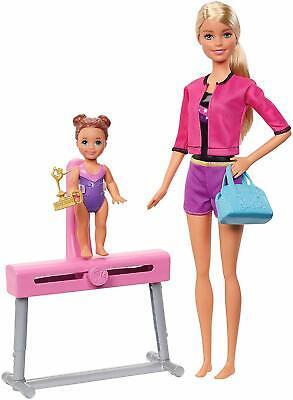Barbie  Gymnastics Coach Dolls and Playset, Multi-Colour, FXP39