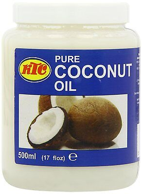 KTC 100% Pure Coconut Oil Cooking Hair & Skin Care Multipurpose 250ml 500ml