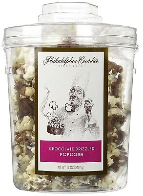 Philadelphia Candies Milk Chocolate Covered Drizzled Popcorn Gift Tub 12 Ounce