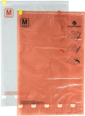(Eagle Creek Compression Sac Set M/M, Clear/Flame Orange)