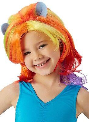 Mädchen Mein Kleines Pony Regenbogen Streifen Offiziell Leuchtend Kostüm - Regenbogen Pony Kostüm