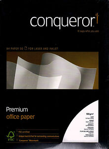 50-x-CONNISSEUR-SMOOTH-LAID-WHITE-A4-PAPER-100gsm-wh