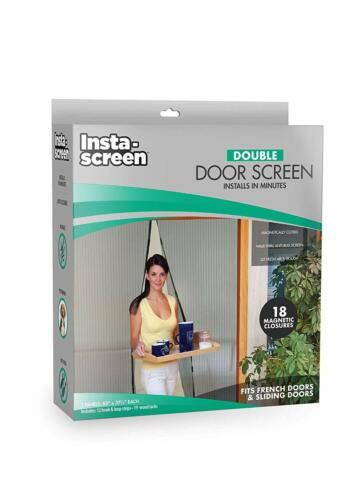 Double Door Screen Mesh Hands Free Magnetic Closure Anti Bug Easy to Instal NEW