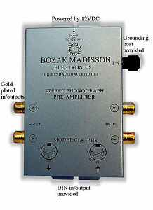 Bozak-Madisson-CLK-PH8-Phono-Preamp-Preamplifier-Turntable-Amplifier-Pre-Amp-DIN
