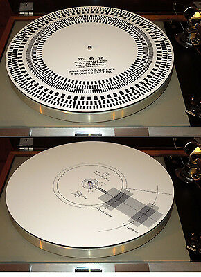 Acrylic Turntable Mat Cartridge Alignment Protractor Strobe Disc Stroboscope  for sale  Shipping to India