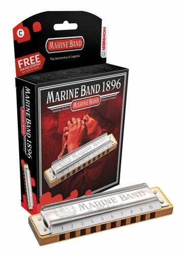 Hohner 1896BXA Marine Band Diatonic Harmonica, Key of A Major