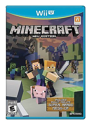 Minecraft  Wii U Edition  Nintendo Wii U Bonus Super Mario Mash Up Video Game