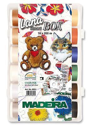 Madeira 93128051 SmartBox Lana No 12 Wool 18 Spool Set, 220 yd