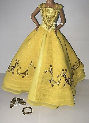 Disney Store Live Action Beauty and the Beast Belle Doll Outfit Ball Gown Dress