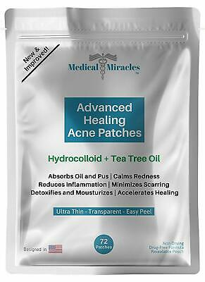 Medical Miracles Acne Pimple Patch - Tea Tree & Hydrocolloid 72 patches