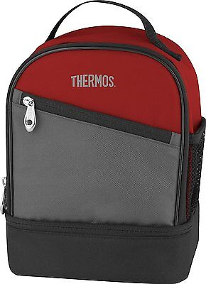 Thermos Essentials Dual Compartment Lunch Kit, Burgundy