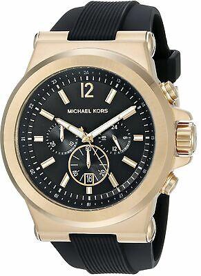 Michael Kors Men's Goldtone And Black Dylan Watch MK8445